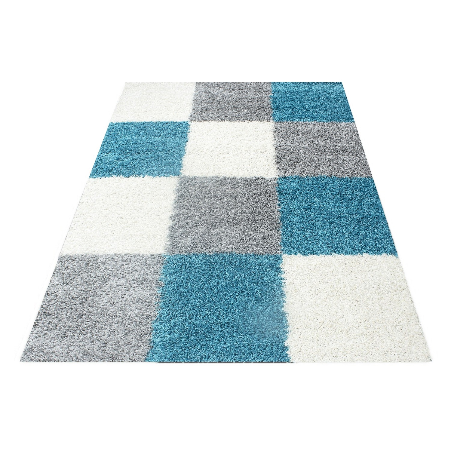 Tapis Shaggy Turquoise Tapis Turquoise Et Gris