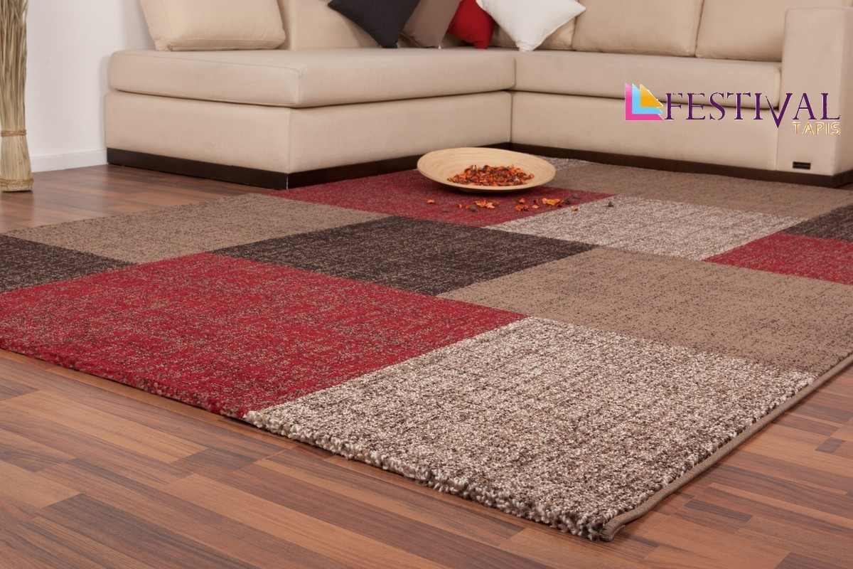 Tapis Salon Beige Marron Tapis Patchwork Ton De Rouge Marron Beige Et Blanc Lord