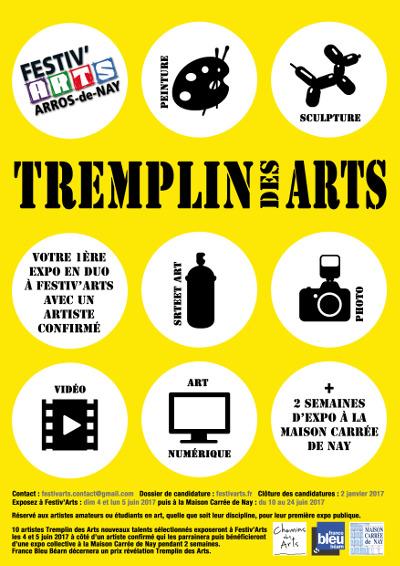 Candidature artistes tremplin des arts Festiv'arts 2017