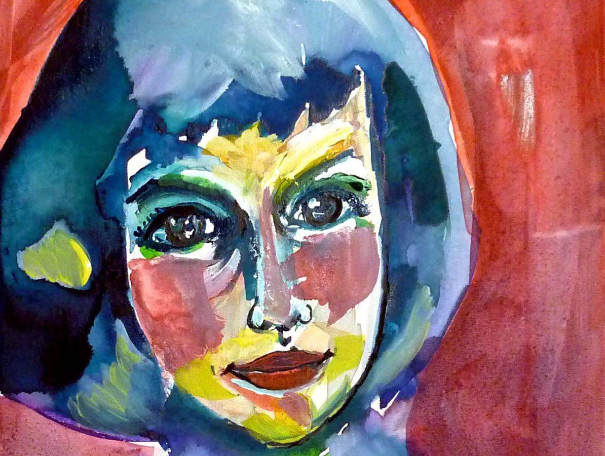 Alice LIDDELL - Aquarelle sur toile (27*35cm) (2013)
