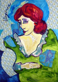Virginia WOOLF - Acrylique et Collage sur toile (100*140 cm) (2015)