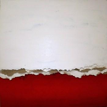 DÉCHIRÉE ROUGE - Acrylique carton (80*80cm) (2014)