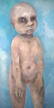 BEBE en el CIELO - Acrylique sur Toile ( 40*120cm) (2015)