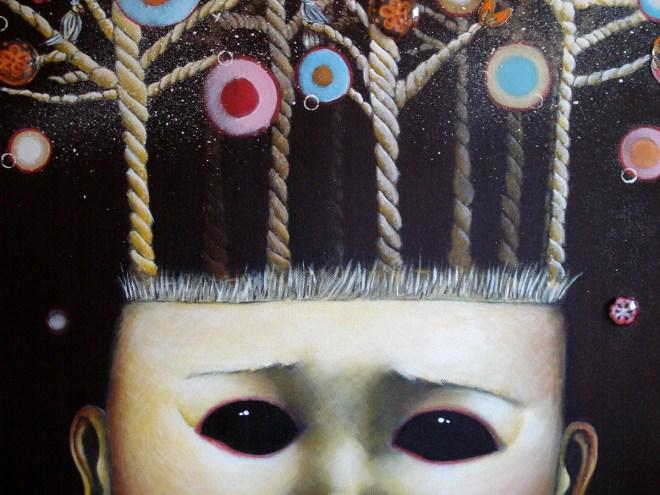 BONBONS et MERVEILLES - Acrylique sur toile (54x65)
