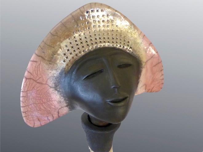 Marque Maïté-Ayun rose 2 -(détail) Raku-106 X 27cm-2016