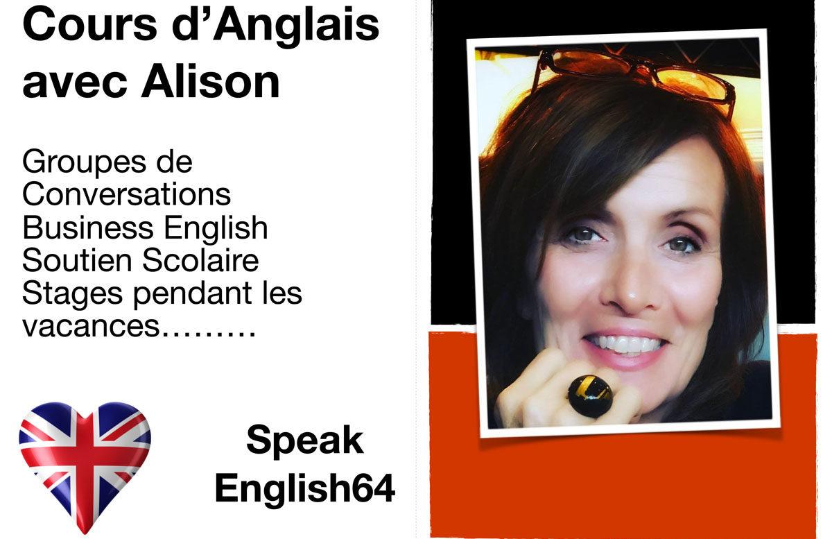 COURS D'ANGLAIS avec Alison – Speak English