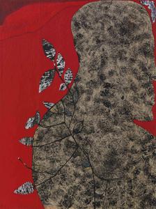 L'HOMME RENATURÉ - Dessin encre, peinture papier marouflée sur bois (116x89cm) 2017