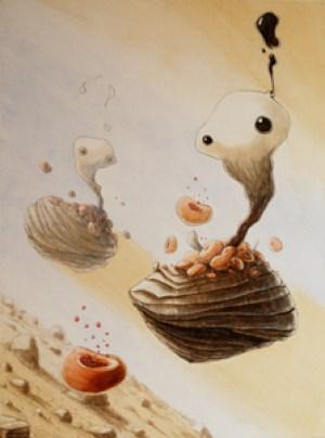 Khӯlvӯh-Coquilles_acrylique sur toile (80*60cm) (2017)