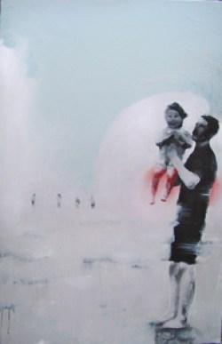 FATHER & DAUGHTER - Mixte sur toile (100*5cm) (2016)