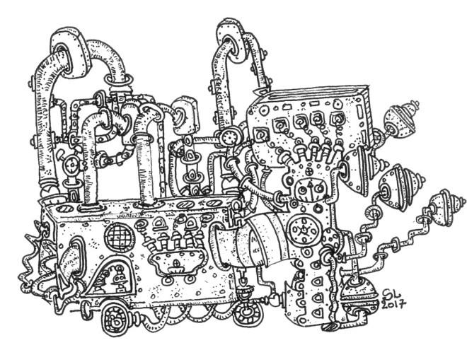 MACHINA 1 - Feutre (16*16cm) (2017)