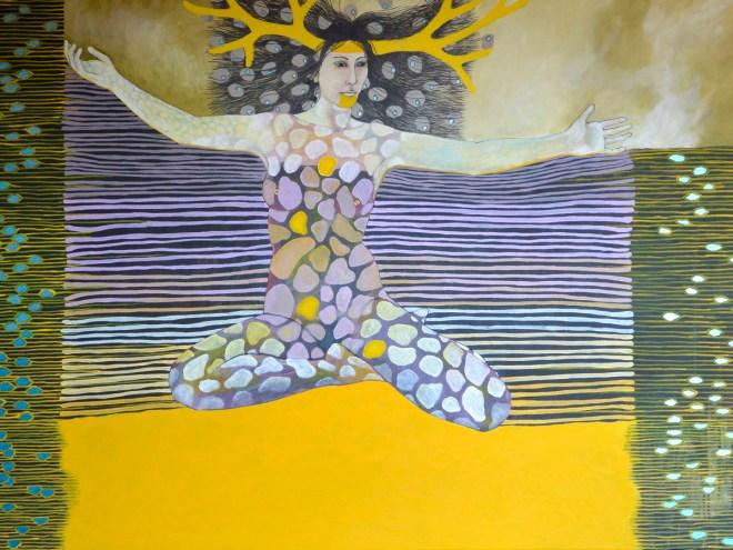 CORAZON EN EQUILIBRIO - Peinture acrylique  (140x91) 2016