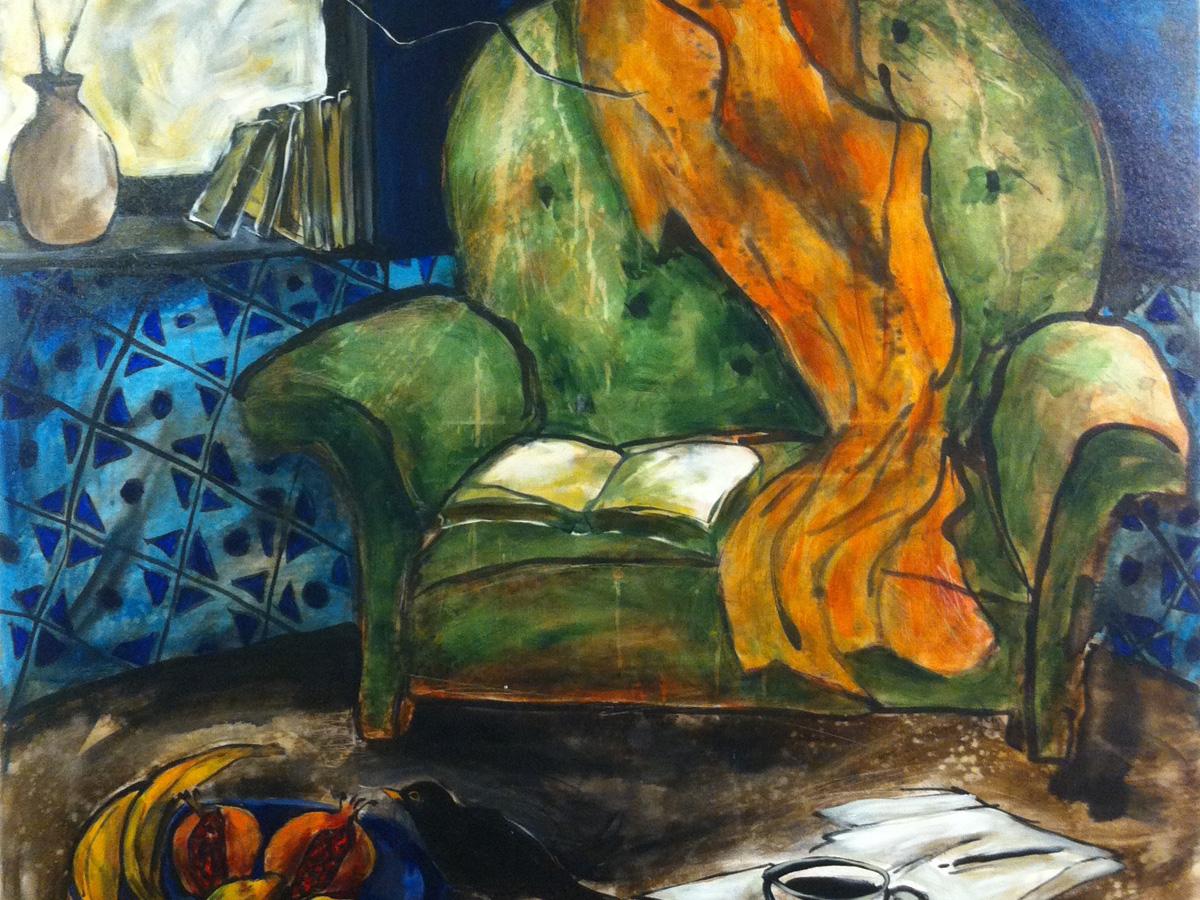 L'ORAGE ARRIVE - Acrylique sur toile (120x120cm) 2015