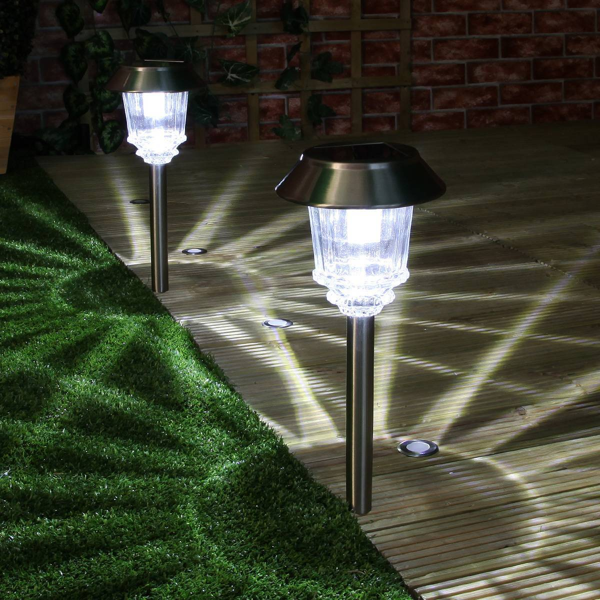 Solarlicht Garten Super Solar Garden Stake Path Lights High Power Led 2 Pack