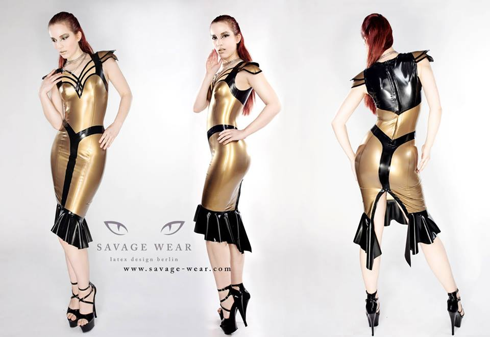 Nofretete Latex Dress
