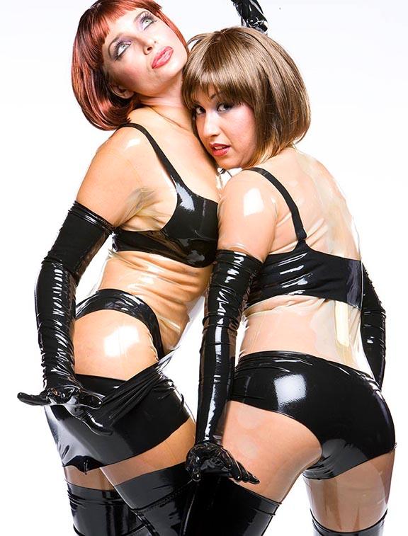black latex lingerie,