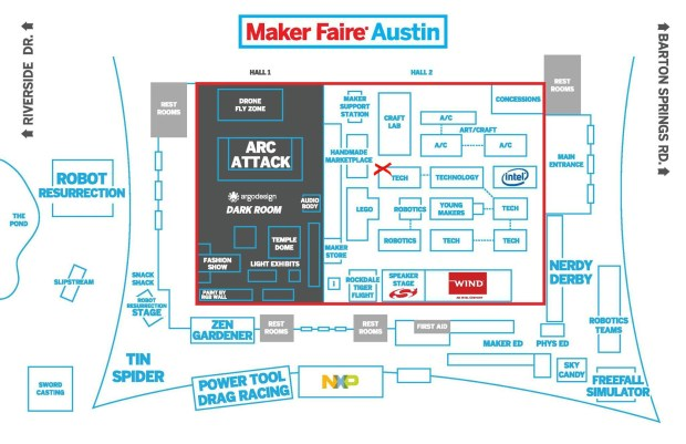 Maker Faire Austin Map Feto Soap