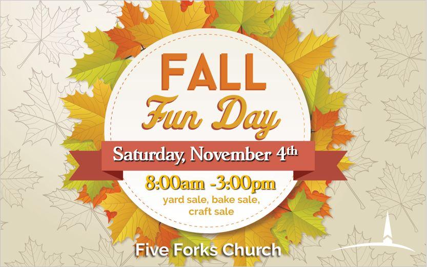 Fall Fun Day Five Forks Church