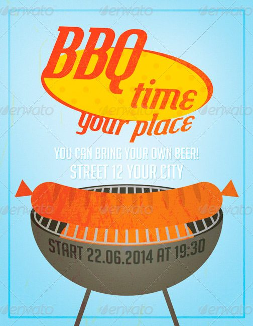 Flyer Template BBQ Party Flyer Template Download Graphicriver Flyer
