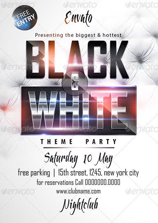 Black  White Affair Flyer Template - Download Luxury Classy PSD Flyer - black and white flyer template