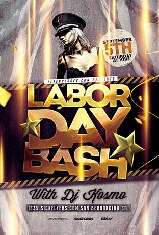 Labor Day Bash Flyer Template Download - FFFlyer