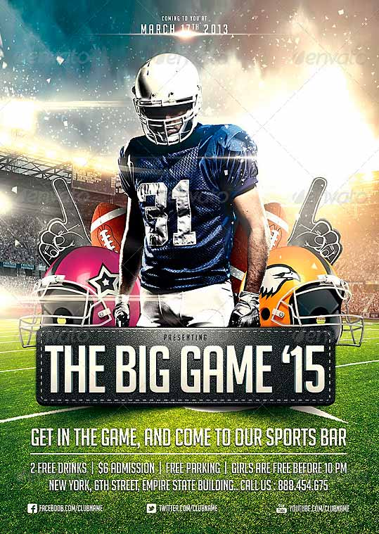 Download Big Game Football Flyer Template