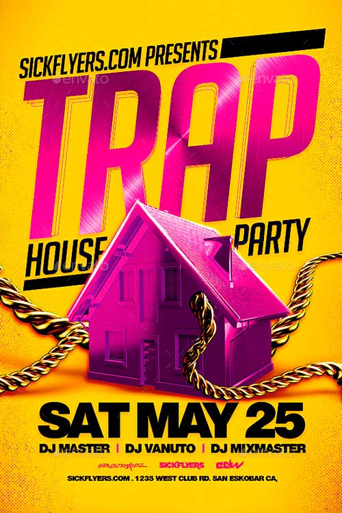 Party Flyer Trap House Party Flyer Ffflyer Trap House Party Flyer - create club flyer online free