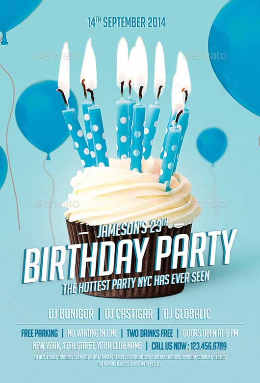 birthday party brochure template - Militarybralicious - party brochure template