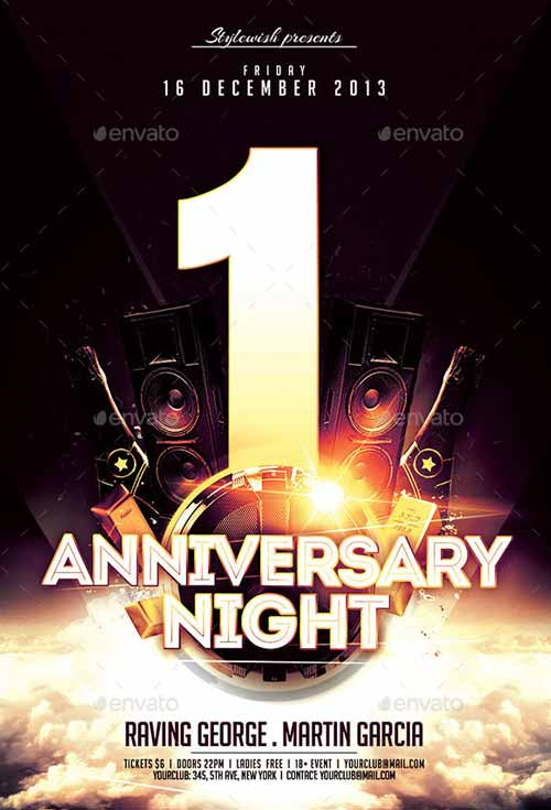 Download the Anniversary Night Flyer Template - anniversary flyer