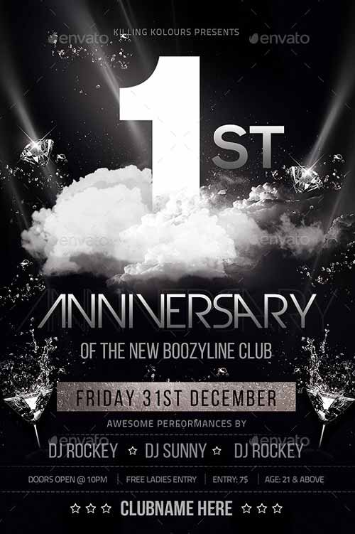 Download the Anniversary Party Flyer Template