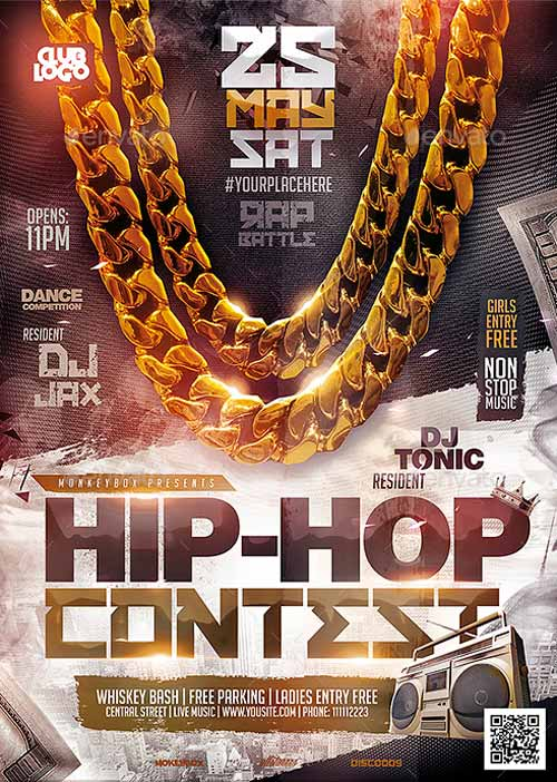 Download the Hip-Hop Contest Flyer Template - competition flyer template