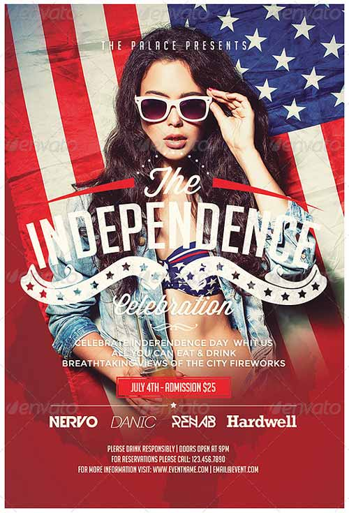 Download the July 4th Independence Day Flyer