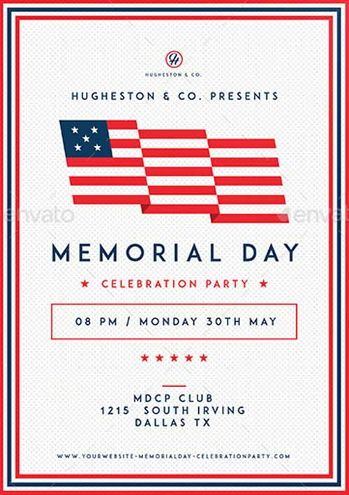 Download the Modern Clean Memorial Day Flyer Template