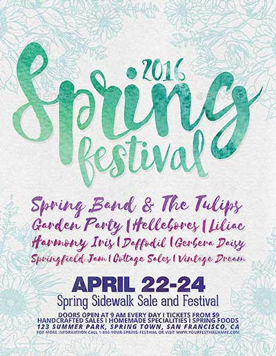 Spring Festival Poster and Flyer