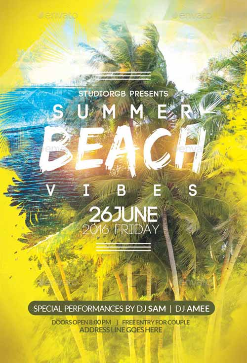 Download the Beach Party Flyer Template