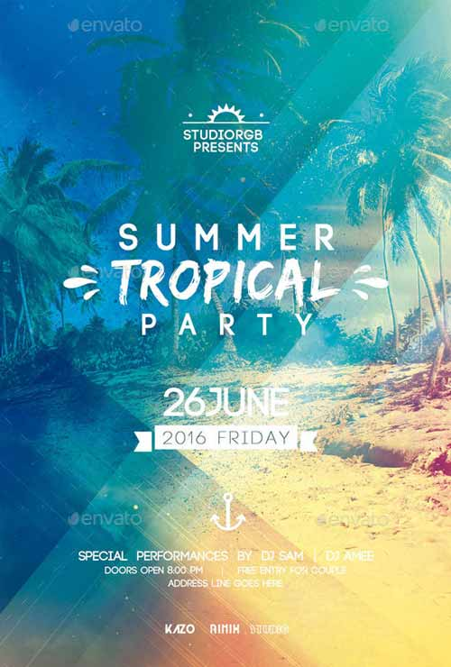 Download the Summer Party Flyer Flyer Template