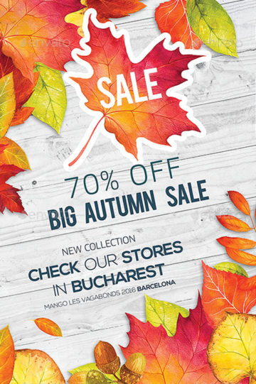 Download the best Fall Flyer Templates for Photoshop