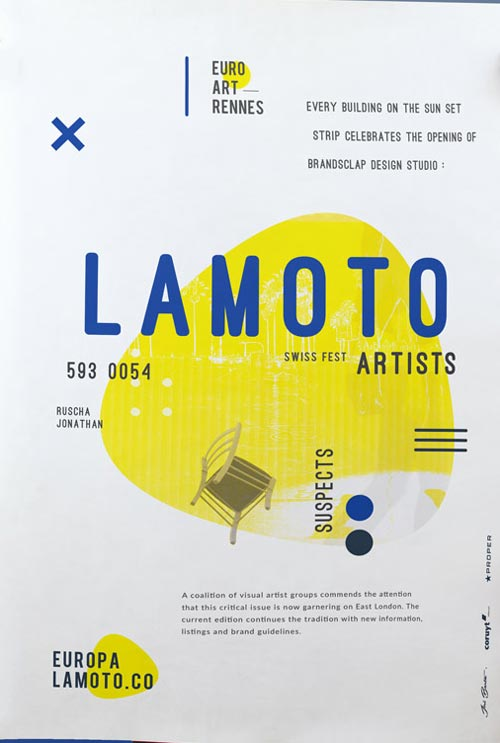 Lamoto Promotional Free Poster Template - Download for Photoshop