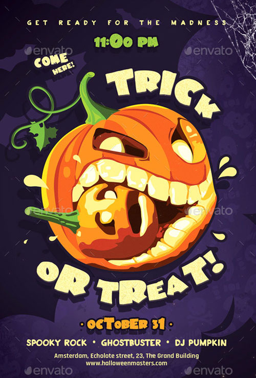 Download the Trick or Treat Halloween Flyer Template for Photoshop