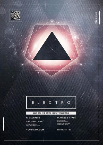 FFFLYER Download the best Electro Flyer Templates for Photoshop - electro flyer