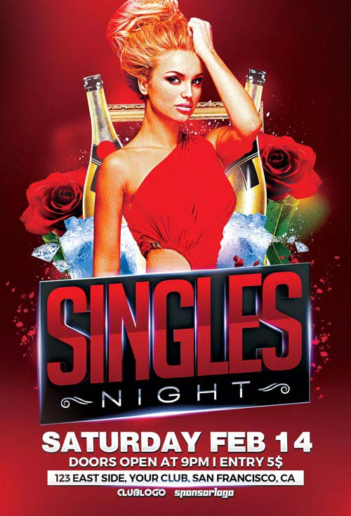Singles Night Flyer Template - Download Single and Love Party Flyer - free meet and greet flyer template