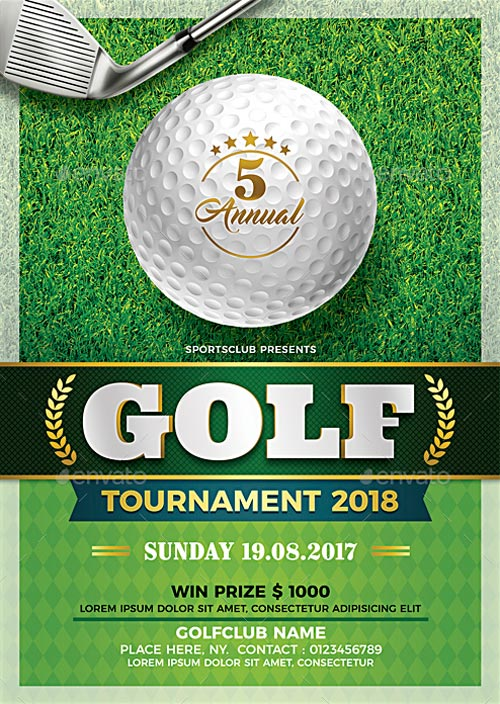 Golf Tournament Flyer Template - Download Flyer Templates for Sport - golf tournament flyer template