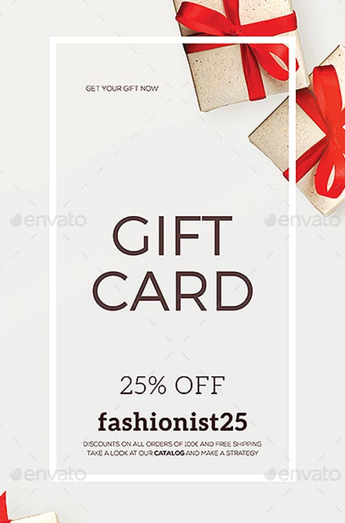 Special Coupon Gift Card Flyer Template - Download Flyer Templates
