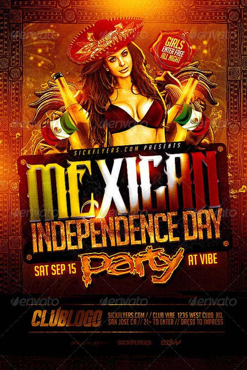 Mexican Independence Day Flyer Template - Best Flyer for Mayo Parties! - independence day flyer
