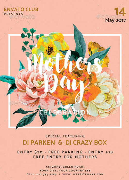 Mothers Day Event Flyer Template for the perfect Mothers Day! - mothers day flyer