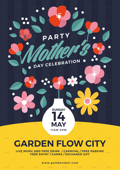 Mother\u0027s Day Illustration Flyer Template for the perfect Mothers Day! - mothers day flyer