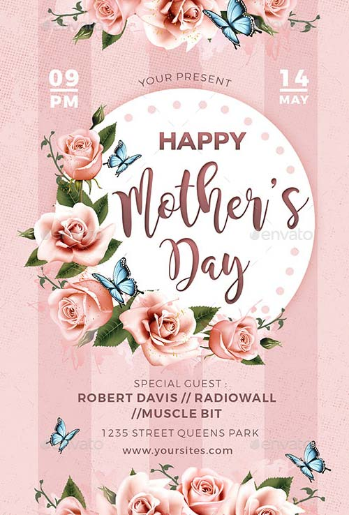 Mothers Day Flyer Template for the perfect Mothers Day Party Event! - mothers day flyer