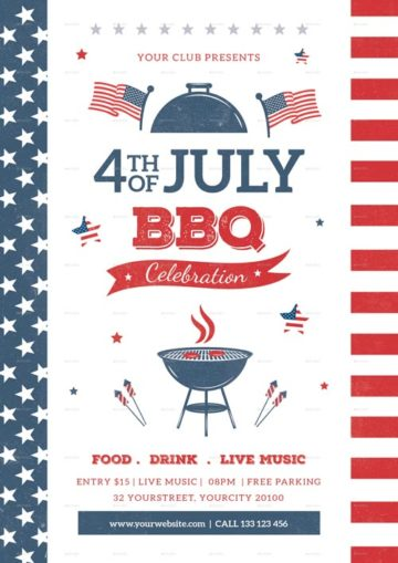 Download best BBQ Flyer Templates for Photoshop