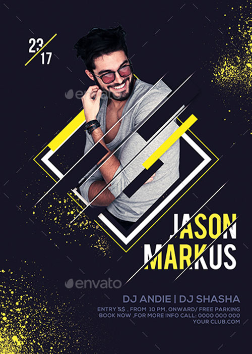 Dj Party Event Flyer Template - Flyer Templates for Party Club Events