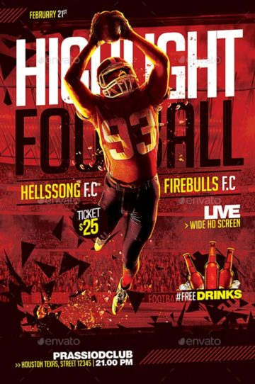 Download the best football flyer templates for Photoshop!