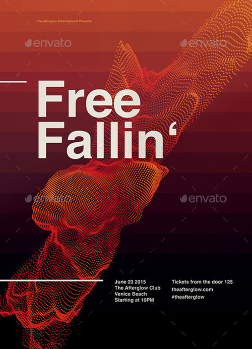 Electro Music Poster and Flyer Template for Electro Music Parties - electro flyer